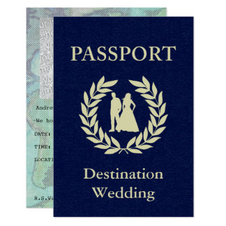 Passport Or Save The Date Invitations & Announcements | Zazzle