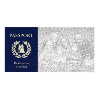 destination wedding passport photo cards