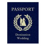 destination wedding passport postcard