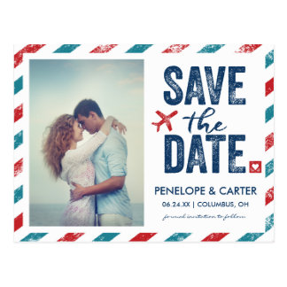Destination Wedding   Postcard Save the Date