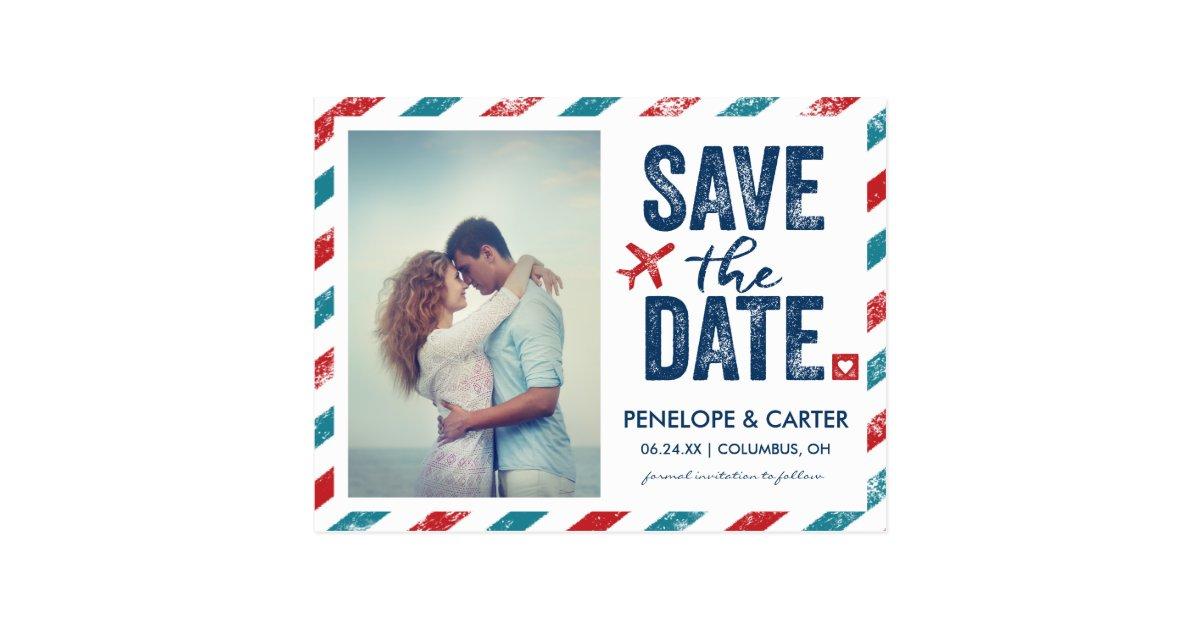 destination wedding postcard save the date zazzle