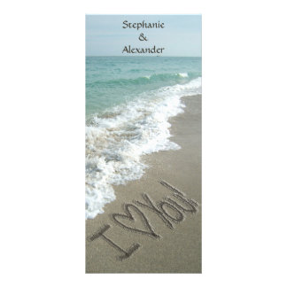 Destination Wedding Program, Beach Theme Rack Card