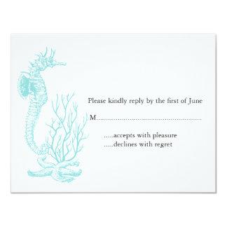 Destination Wedding RSVP 4.25x5.5 Paper Invitation Card