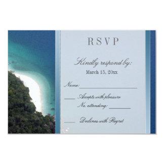 Destination Wedding RSVP 3.5x5 Paper Invitation Card