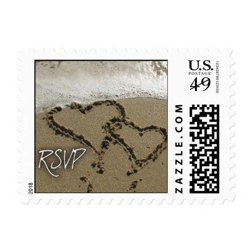 Destination Wedding RSVP Postage Stamp