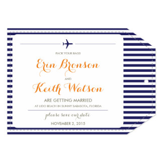 Destination Wedding Save the Date 5x7 Paper Invitation Card