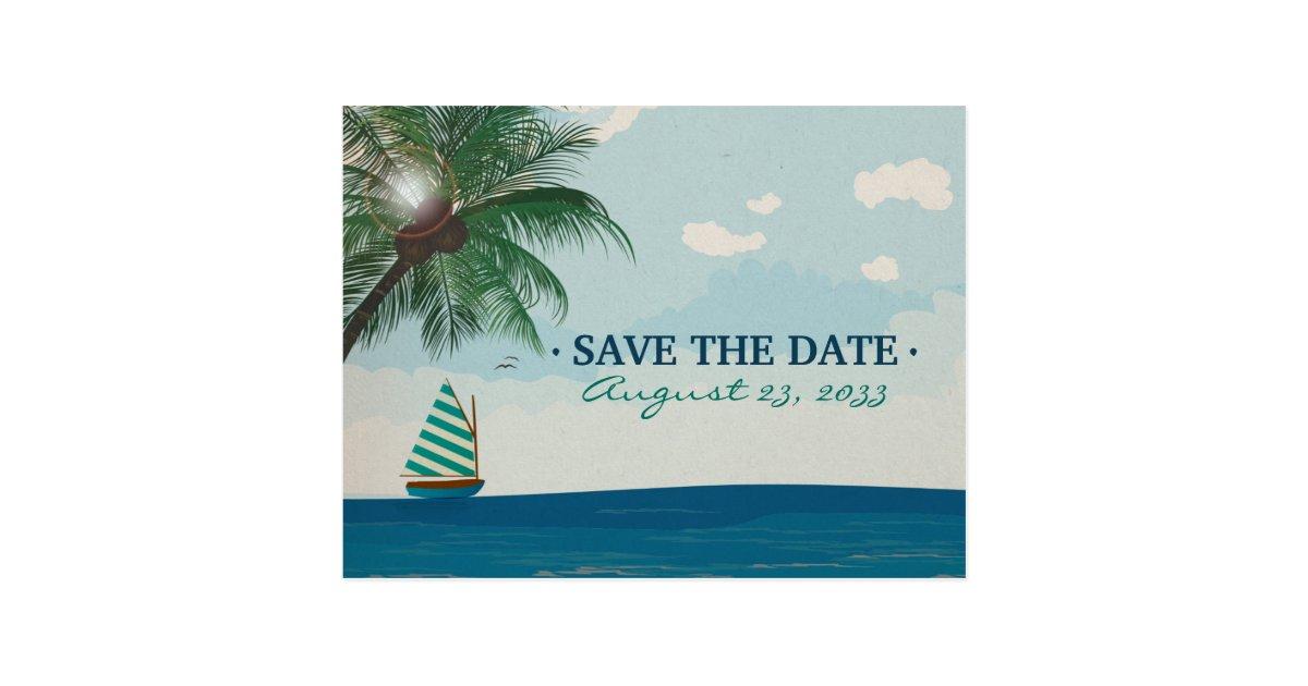 destination wedding save the date postcard zazzle