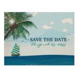Destination wedding save the date postcards