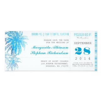 destination wedding save the date tickets pass 4x9.25 paper invitation card