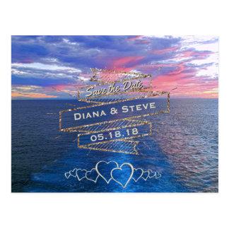 Destination Wedding Save the Date | Tropical Ocean Postcard
