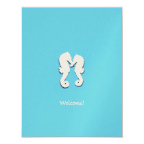 Destination Wedding Seahorse Welcome Guests Card