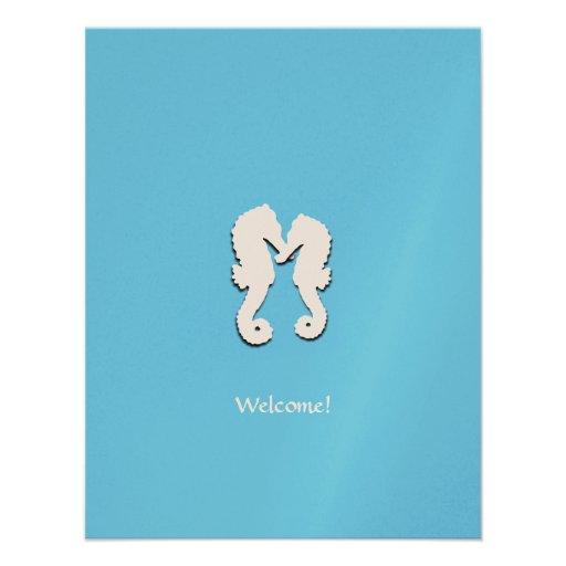 Destination Wedding Seahorse Welcome Guests Card Invite