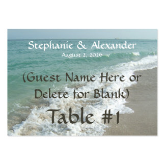 Destination Wedding Table Name Place Cards Custom Business Card Template