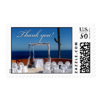 Destination wedding thank you postage