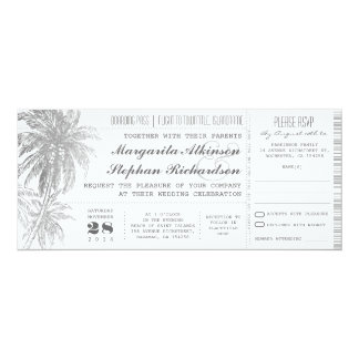 destination wedding tickets card