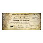destination wedding tickets with RSVP Card