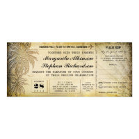 destination wedding tickets with RSVP Card