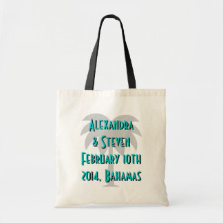 Destination wedding tote bags | palm tree design