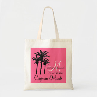 Destination Wedding Tote Bags Palm Trees Pink