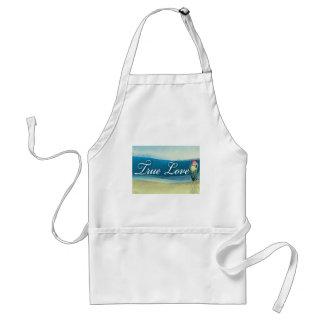 Destination wedding  - true love adult apron