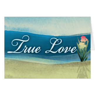 Destination wedding  - true love card