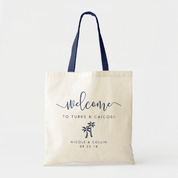 Beach Themed Destination Wedding Welcome Bag | Palm Tree