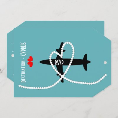 Destination Weddings Abroad Cyprus RSVP Invitation