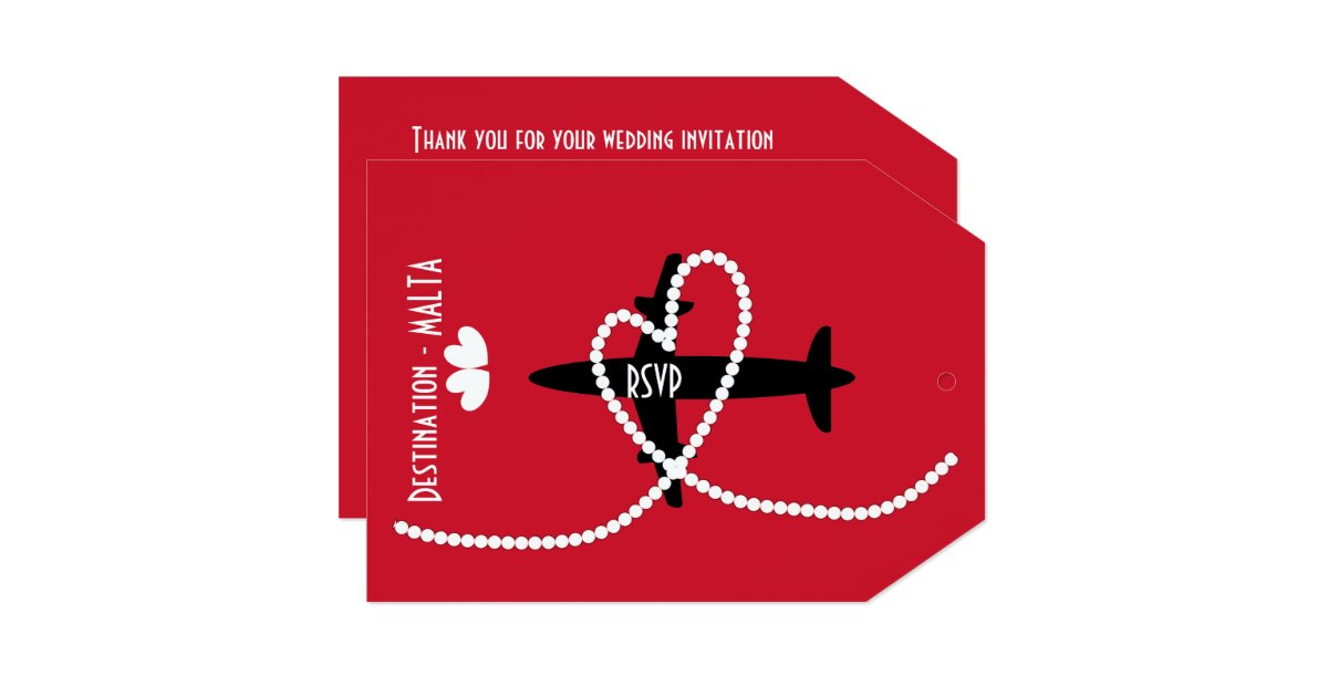 Wedding Invitations Malta: Destination Weddings Abroad Malta RSVP Card