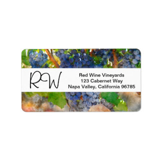 Destination Winery Wedding Shipping Labels