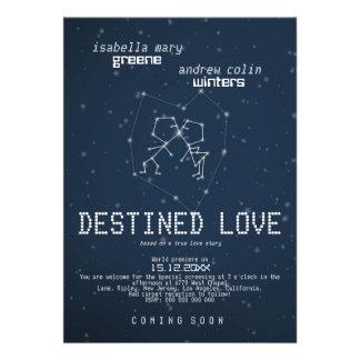 Destined Love - Wedding Movie Poster Invitation