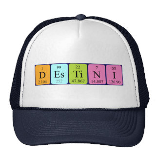 Destini periodic table name hat