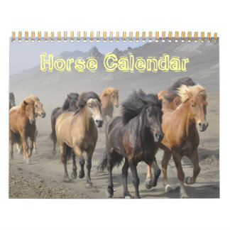Destino animal del amor de la paz del caballo de calendario de pared