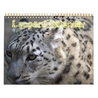 Destino animal del amor de la paz del leopardo de calendario de pared