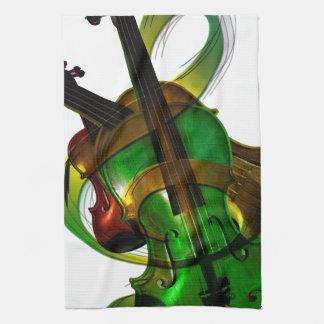 Destino atado música Digital del violín del instru Toallas