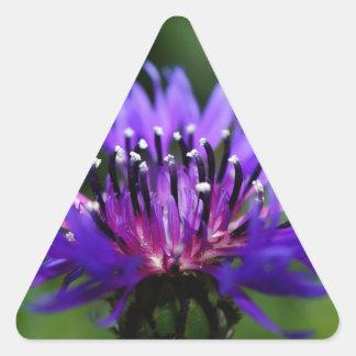 Destino azul del amor de la paz de los flores de pegatinas triangulo