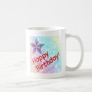 Destino colorido de la paz del fiesta del feliz taza