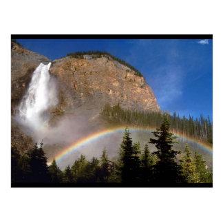 Destino colorido del parque de la montaña de la postal