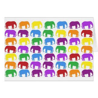 Destino con clase del diseñador de los elefantes tarjeta de felicitación