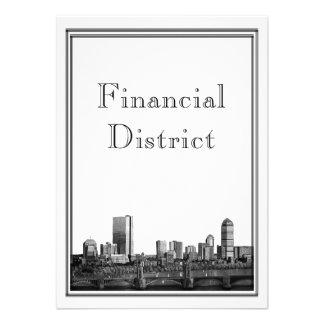 Destino de Boston que casa el distrito financiero Invitaciones Personalizada