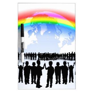 Destino de la celebración del fiesta del arco iris pizarras