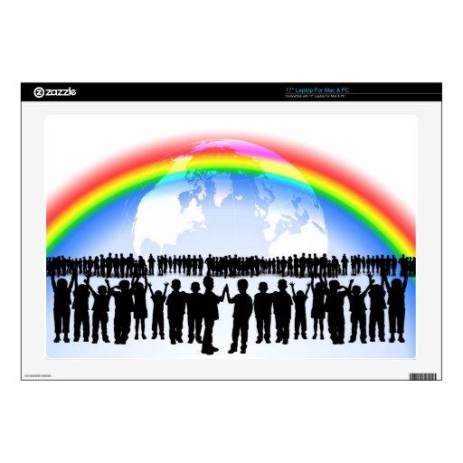 Destino de la celebración del fiesta del arco iris skins para portátiles