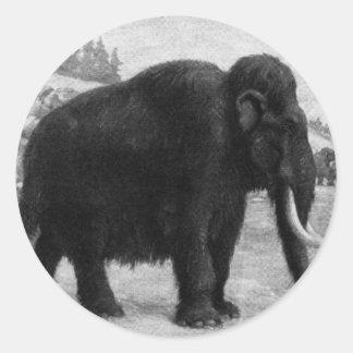 Destino de la MOD del mamut lanoso Pegatina Redonda