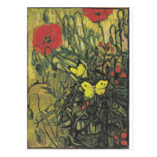 Destino de la paz de las flores de las amapolas de tarjetas postales