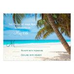 Destino de la playa de las palmeras que casa las t comunicados personalizados