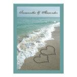 Destino de la playa que casa 5x7, corazones de la