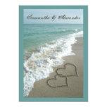 Destino de la playa que casa 5x7, corazones de la comunicado personal
