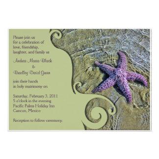 Destino de las estrellas de mar o invitación del b