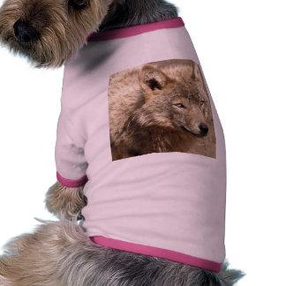 Destino de los lobos del parque de naturaleza del  camiseta de perro