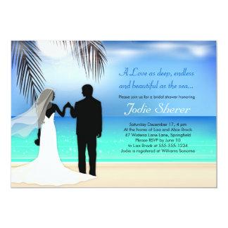 """Destino de los pares/invitación con playas de la invitación 5"""" x 7"""""""