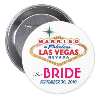 Destino de Vegas que casa el botón de la NOVIA Pins